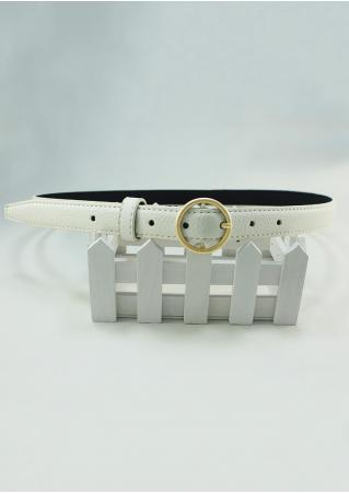 Solid PU Buckle Belt