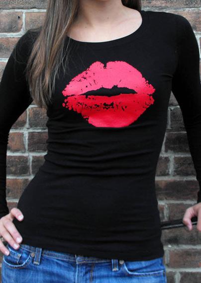 Tricou de damă, fashion, din poliester, cu imprimeu și mâneci lungi