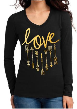 Love Arrow Casual T-Shirt