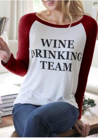 Wine Drinking Team Baseball T-Shirt