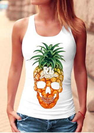 Pineapple Skull Stretchy Tank