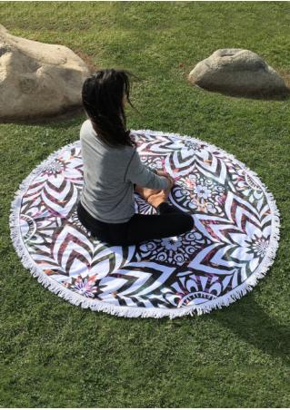 Round Towel with Tassel Fringe Beach Blanket