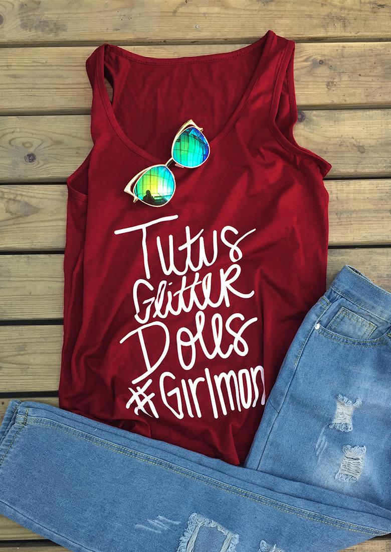 Tricou de damă, fashion, fără mâneci, guler rotund și imprimeu grafic