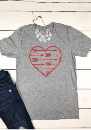 Arrow Heart T-Shirt without Necklace Arrow