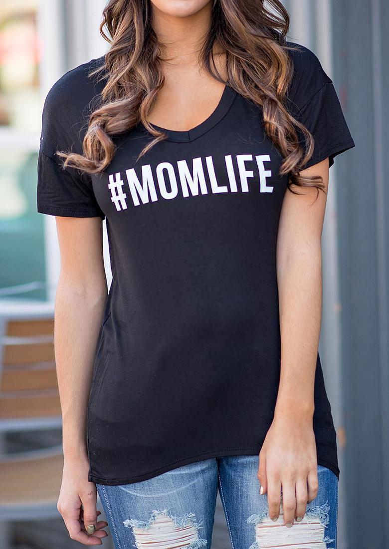 Tricou de damă, fashion, mulat, din poliester, cu imprimeu grafic