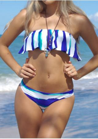 Printed Bow Bikini Set without Necklace Printed