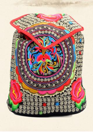 Embroidery Flower Backpack