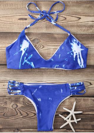 Halter Strappy Bikini Set