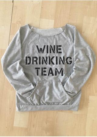 Wine Drinking Team Pocket Sweatshirt