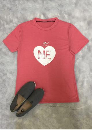 Nebraska Heart Short Sleeve T-Shirt