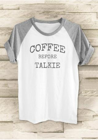 Coffee Before Talkie Baseball T-Shirt