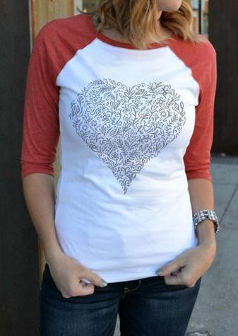 Tricou de damă, fashion,cu imprimeu frontal și mâneci lungi