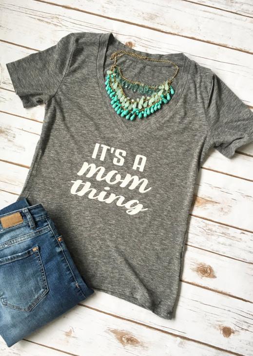 Tricou de damă, casual, cu imprimeu, mâneci scurte și guler în v