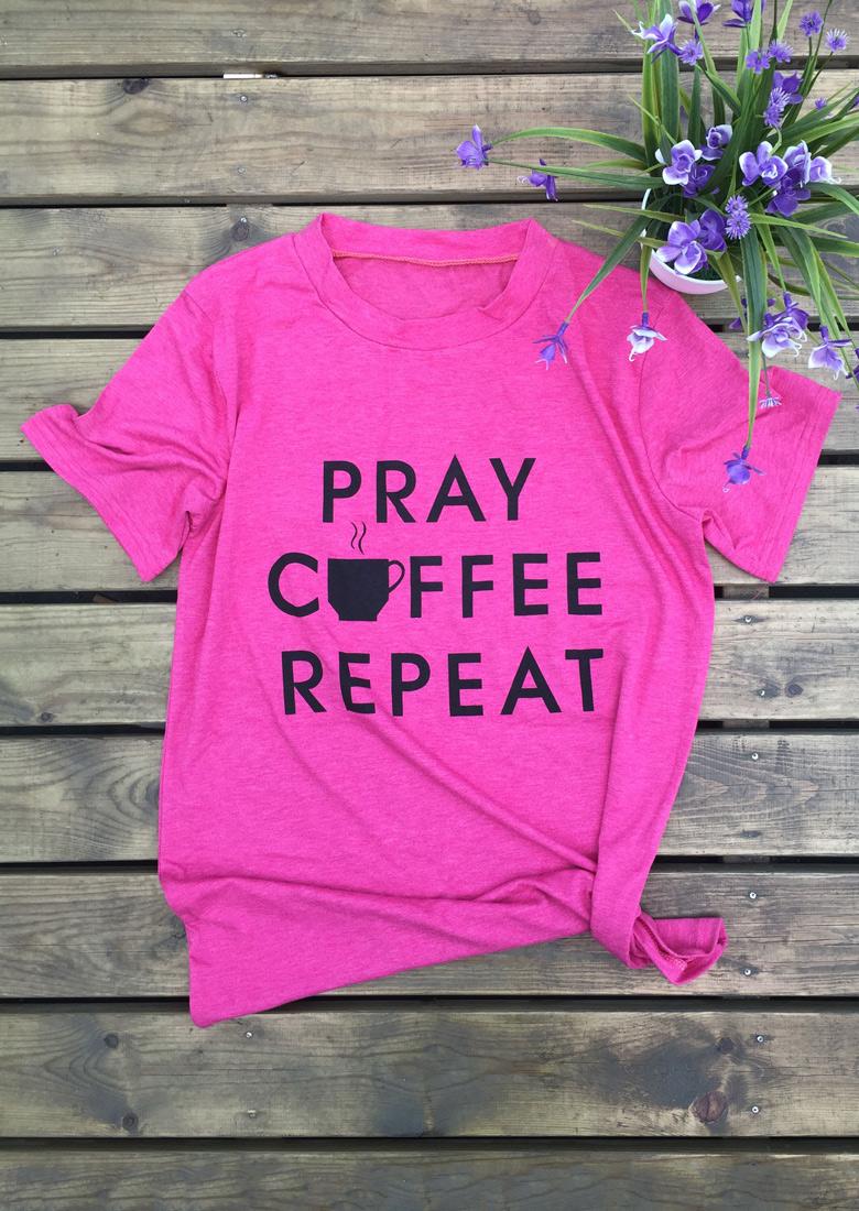 Tricou de damă, casual, cu imprimeu grafic, mâneci scurte și guler rotund