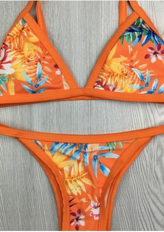 Floral Leaf Sexy Bikini Set