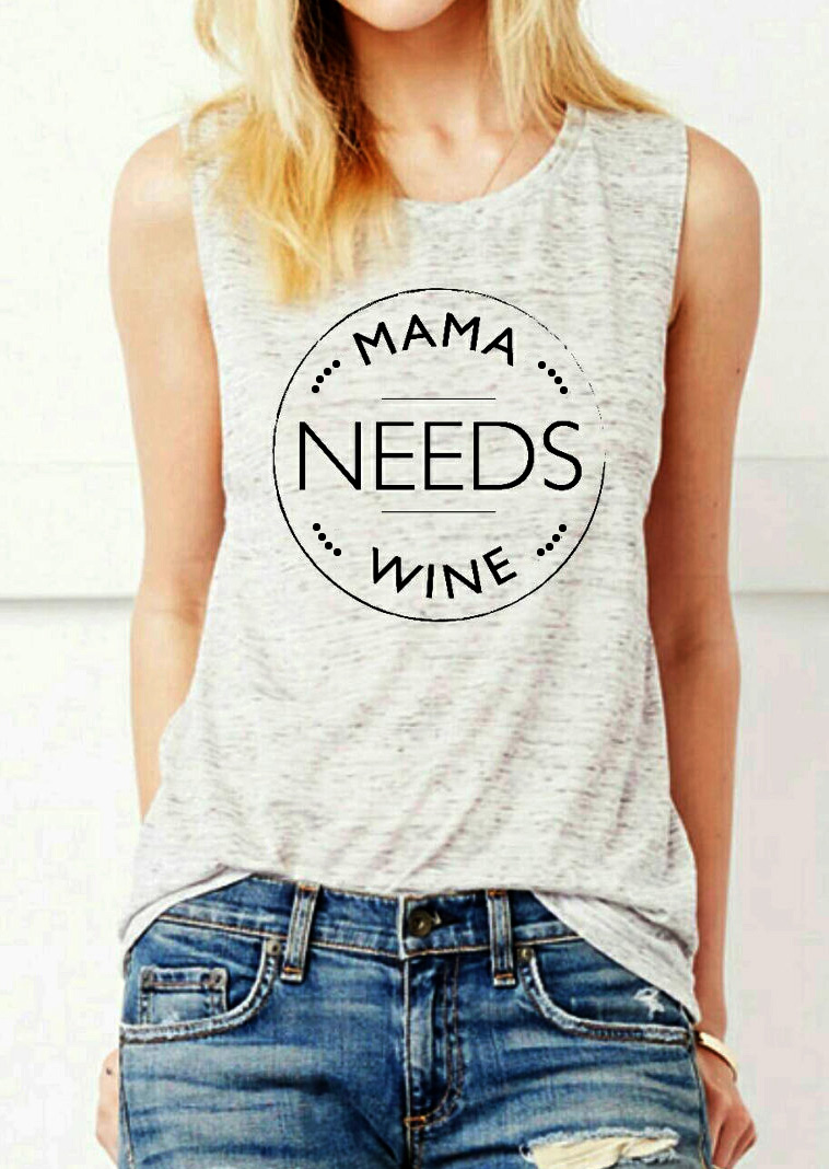 Mama Needs Wine Tank Fairyseason