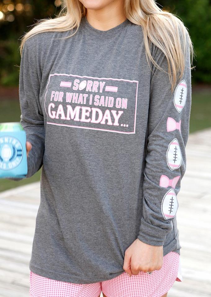 Купить Sorry For What I Said On Gameday T-Shirt