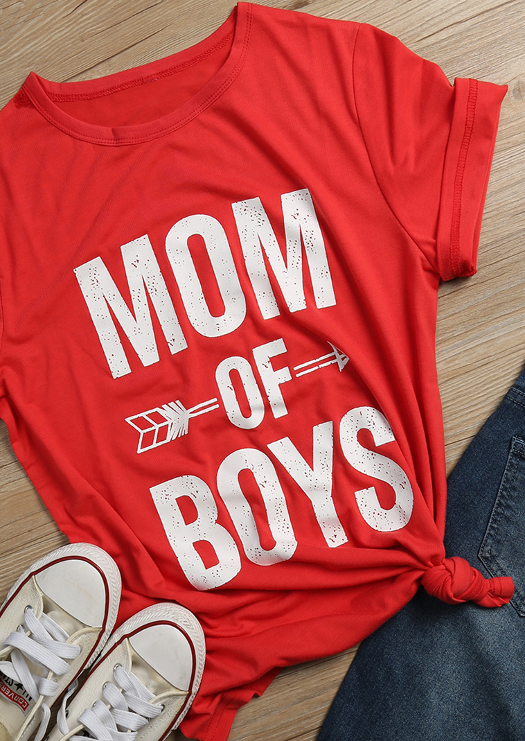 Mom Of Boys Arrow Short Sleeve T Shirt Fairyseason
