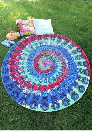 Mandala Multicolor Round Beach Blanket