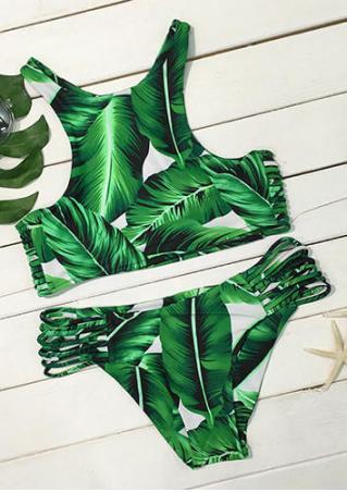 Tropical Leaves Bikini Set