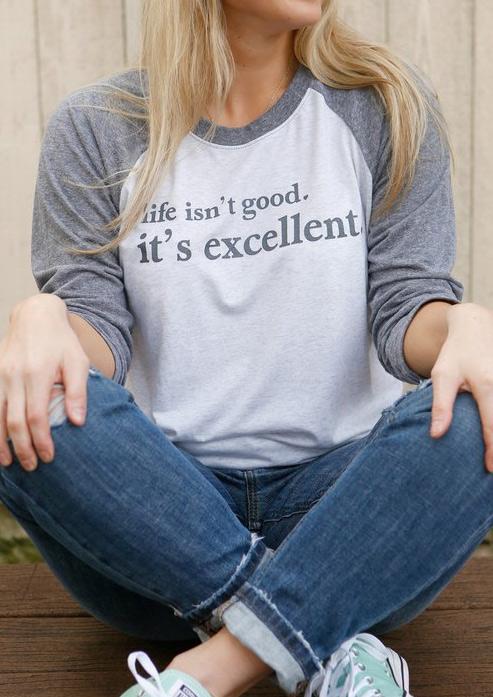 Tricou de damă, elegant, din poliester, cu mâneci 3/4 și imprimeu