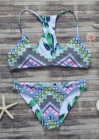 Leaf Geometric Sexy Bikini Set Leaf