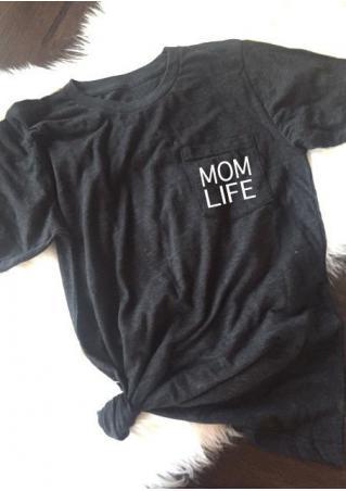 Mom Life Pocket Short Sleeve T-Shirt
