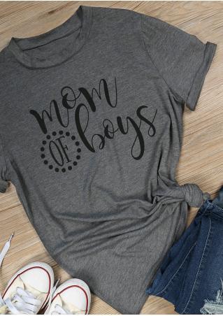 Mom of Boys Short Sleeve T-Shirt