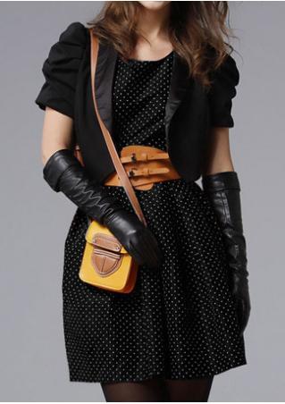 PETITE Polka Dot Two-piece Mini Dress Without Belt