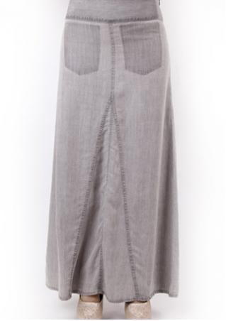 PETITE Solid Knee-Length Skirt