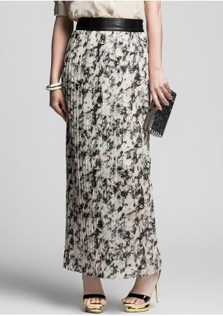 PETITE Printed Ruffled Skirt