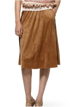 PETITE Solid Skinny Skirt