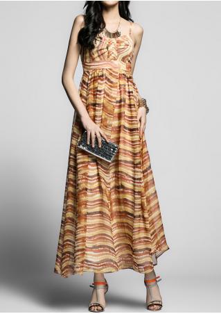 PETITE Striped Maxi Dress