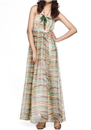 PETITE Multicolor Striped Maxi Dress