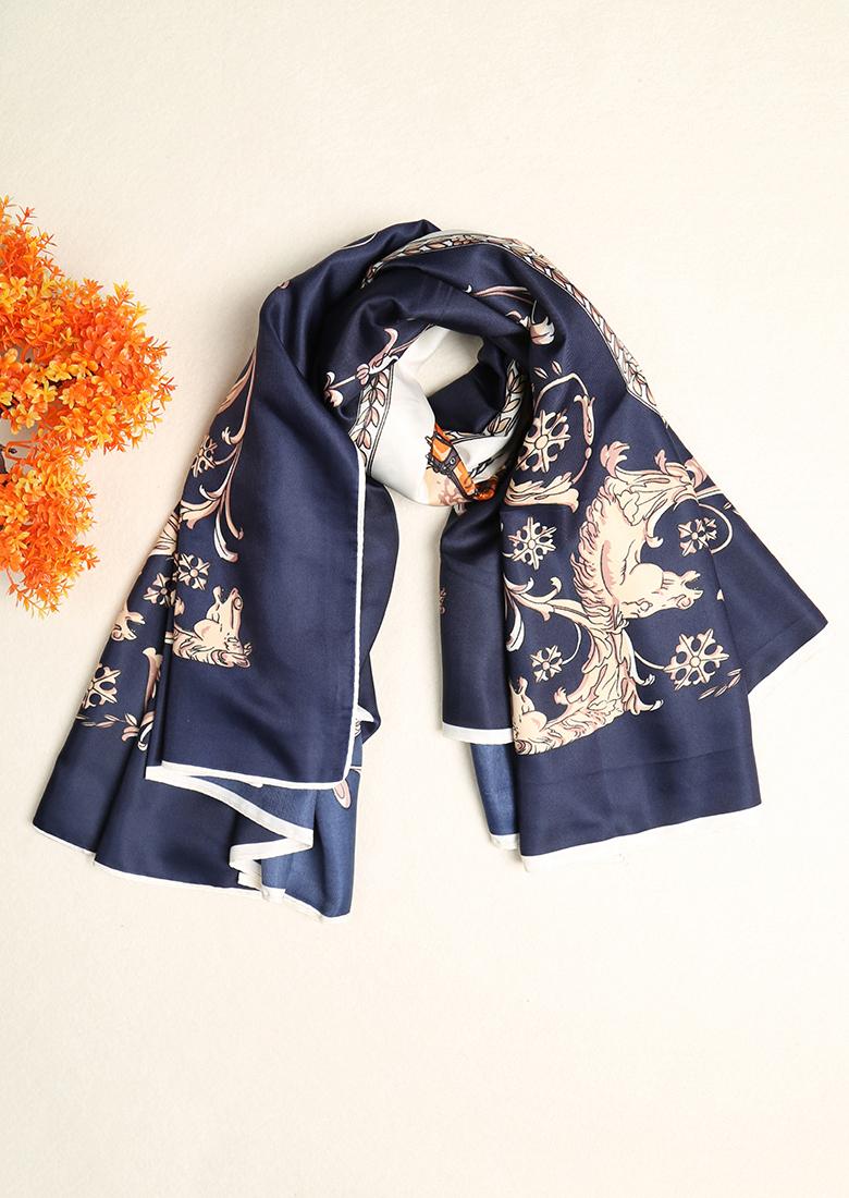 Eșarfă de damă, fashion, cu imprimeu floral