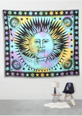 Psychedelic Celestial Sun Tapestry