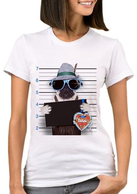 Tricou de damă, fashion, slim fit, din poliester, cu imprimeu