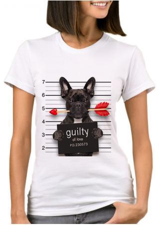 Bad Dog Guilty of Love T-Shirt Bad
