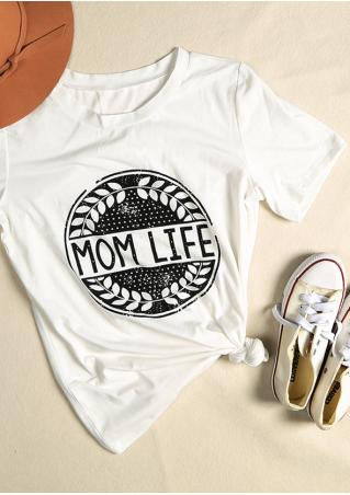 Mom Life Olive Branch T-Shirt