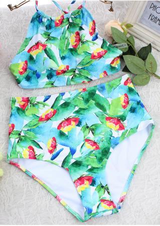 Floral Leaf Sexy Bikini Set Floral