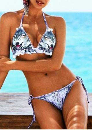 Wolf Halter Bikini Set