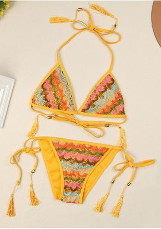 Lace Strappy Bikini Set Lace