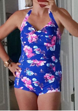 Floral Halter Swimsuit
