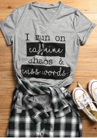 I Run On Caffeine Chaos Amp Cuss Words T Shirt Fairyseason