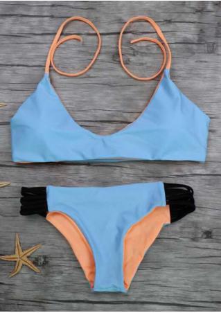 Splicing Halter Bikini Set Splicing
