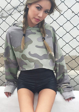 Image of Camouflage Crop Top