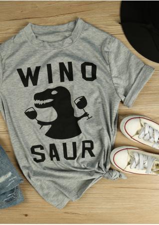 Winosaur Dinosaur Short Sleeve T-Shirt