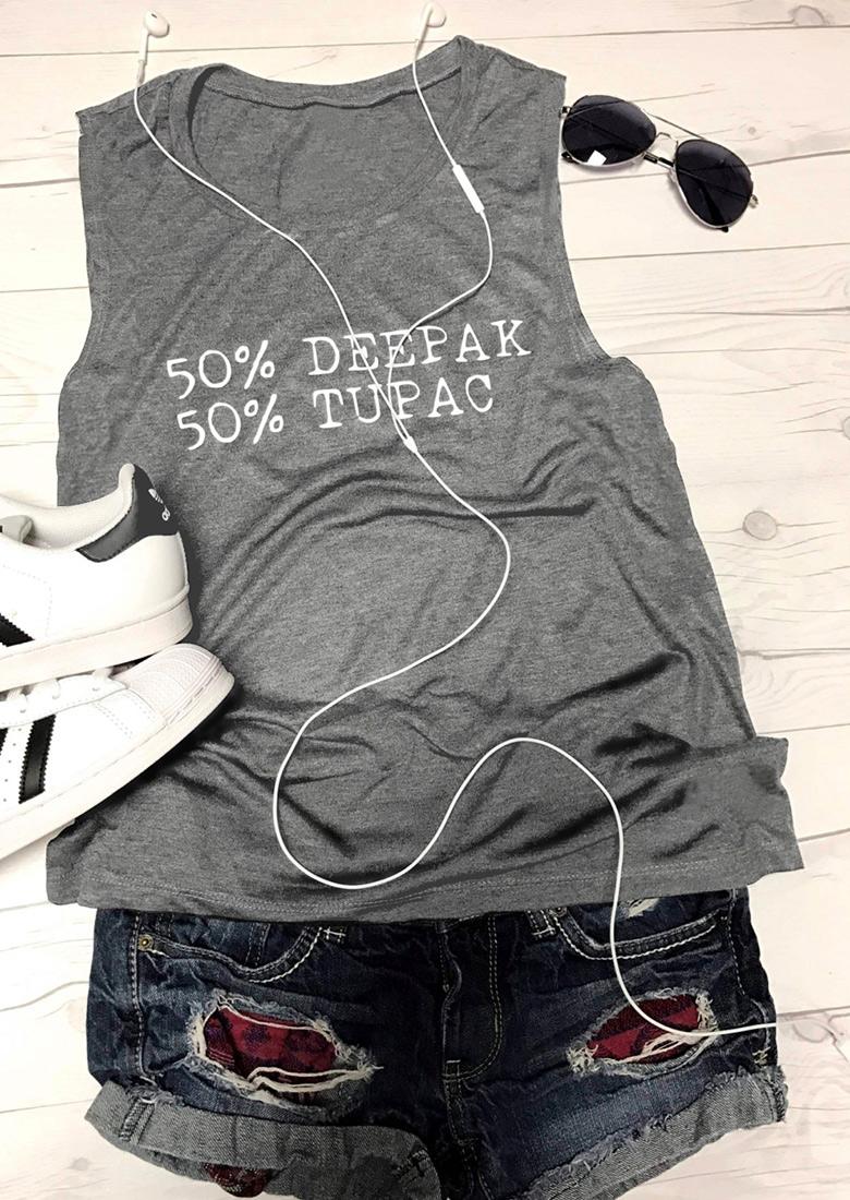 Tricou de damă, casual, slim fit, din poliester, fără mâneci, cu imprimeu grafic