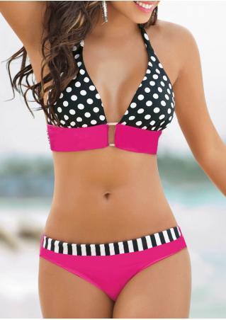 Polka Dot Halter Sexy Bikini Set Polka