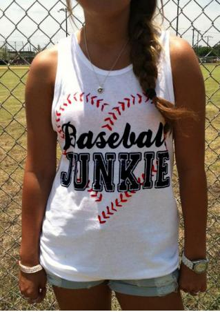 Baseball Junkie Tank without Necklace Baseball